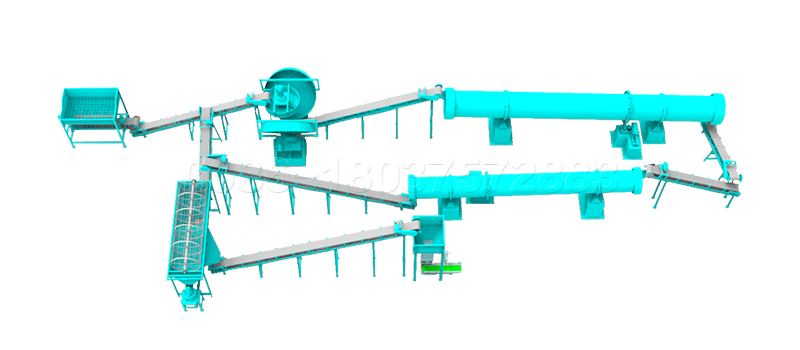 Bio Fertilizer Production Line with Granulator